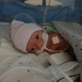 Mijn baby was ongeveer 20 centimeter en had een gewicht van 950 gram