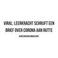 VIRAL: Leerkracht schrijft een brief over Corona aan Rutte