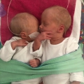Met 32 weken werd onze tweeling geboren, we zaten ruim een maand in het ziekenhuis