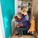Klussen aan de woonkamer samen met kinderen