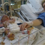 Ondanks dat we enorm voorbereid waren door de artsen hoe Sylvan erbij lag, schrok ik me kapot